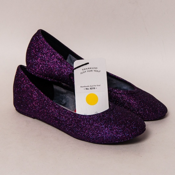 e31507a12149 Princess Pumps Shoes | Razzle Purple Glitter Ballet Flats | Poshmark